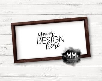 Styled Stock Photography, Blank Box Frame, Frame Mockup, Blank Frame Stock Photo, 12x24 Frame Mockup, Add Your Design, Digital Download