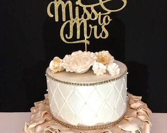 From Miss to Mrs Cake Topper, Engagement Party Cake Topper, Bridal Shower Cake Topper, Ready to Ship