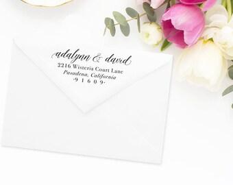 Return Address Stamp, Address Stamp, Custom Address Stamp, Wedding Return Address Stamp, Personalized Return Address Stamp, Rubber Stamp #59