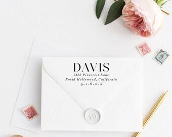 Custom Return Address Stamp, Self Ink Return Address Stamp, Personalized Address Stamp, Calligraphy Address Stamp Return Address Stamp No53