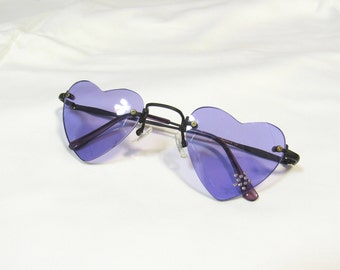 90s / y2k heart shaped sunglasses w/ color lenses ; 5 colors available