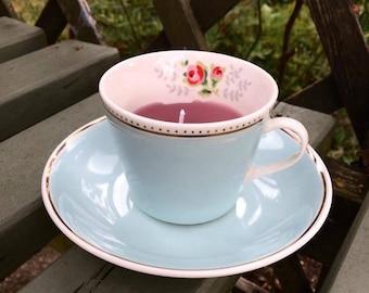 Handmade Cath Kidston Teacup Candle