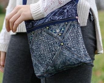 Cross Body Bag Pattern - Gray - Small Cloth Handbag - Cloth Purse - Crossbody Purse - Handbag - Clutch Bag - Small Purse - Tote Bag