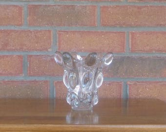 Beautiful VASE - Crystal / Crystal - VANNES Le Chatel - France - mid century - Chic - signed