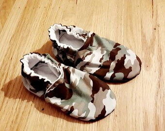 Camouflage Moccasin Slippers for Baby and Toddler