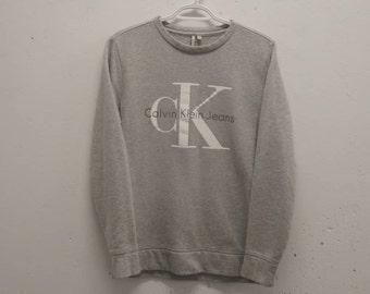 Calvin Klein Sweater Vintage CK Jeans Big Logo Swearshirt 1990s CK Jeans