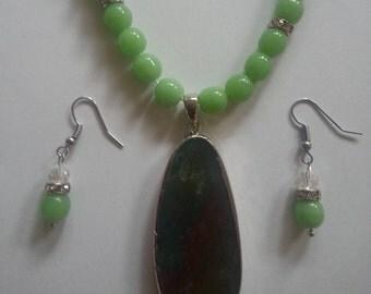 Green Beaded Jewelry