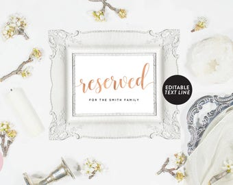 Reserved chair sign | Etsy