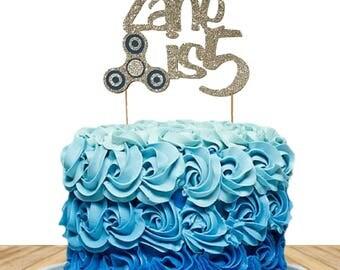 Fidget Spinner, Fidget Spinner Birthday Cake Topper,Name ,Personalized Birthday Cake Topper, Custom Name Birthday Cake Topper,