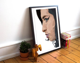 Amy Winehouse Poster / music legend / Art Poster Print / Amy / Music Poster / Fan art / Tribute / Merch