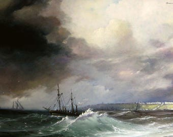View of Odessa from the sea (I. Aivazovsky)
