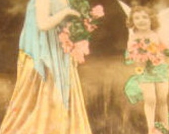 SALE Vintage Hand Tinted Theater Postcard