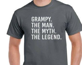 Grampy Shirt- Grampy The Man The Myth The Legend T-shirt- Gift For Grandpa, Gift For Grampy, Men's Shirt, Birthday Gift, Grampy Tee.