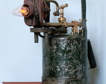 Vintage Industrial Blow Torch Table Lamp