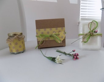 Lemongrass Soy Wax Candle And Soap Gift Set Birthday Present