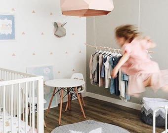 Round Crochet gray rug / Gray Nursery rug / Scandinavian rug / bedroom rug / scandinavian Nursery / crochet rug / Kids rug / Modern rug