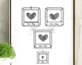 Thumbprint Family Tree | Digital Download | Instant Download | Printable | Baby Shower | DIY Print | Nursery Art | Baby Keepsake | Baby Art