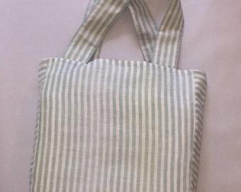 Cotton and Linen Reversible Shoulder Bag