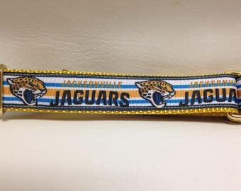 Martingale Dog Collar, Large Blue and Gold Martingale Collar, Large Jaguars Martingale Dog Collar, Large Adjustable Dog Collar