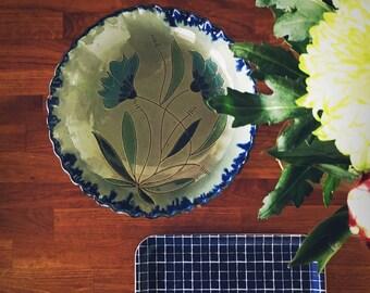 Grand plat en céramique à fleurs - Flowers Ceramics Plat