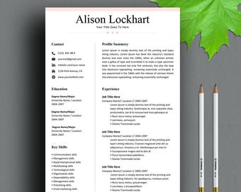 Resume Template Instant Download, Resume, Professional Resume Template, Modern Resume Template, CV Template, Clean Resume, Simple Resume