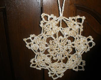 Christmas star / snowflake Christmas crochet
