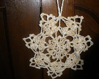 Christmas star / snowflake Christmas crochet