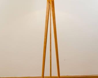 tripod floor lamp cherry midcentury modern