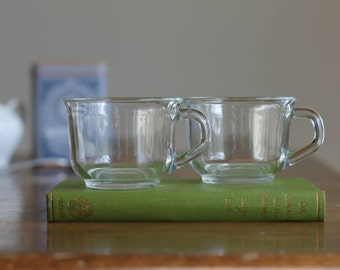 French Vintage Glass Teacups