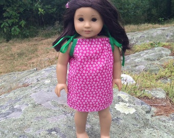 Beautiful Handmade Doll Dress - fits American Girl, Journey Girls, My Life and other 18 inch Girl Dolls, OOAK, AG Doll Dress, Doll Clothes