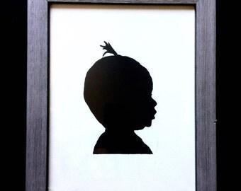 Custom Child Silhouette Painting