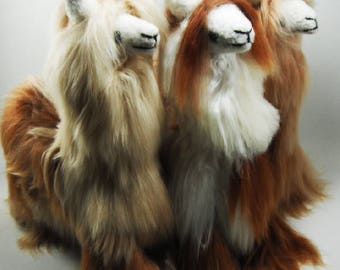 13 IN  Handmade Alpaca Stuffed Animal Plush Alpaca  Fur/Suri Llama fur teddy alpaca Standing handmade Peruvian alpaca fur animal toy