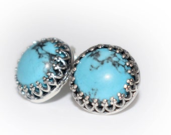 Sterling Silver 925 Turquoise Earrings