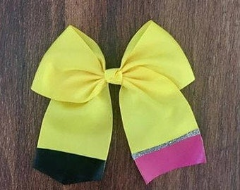 Back To School Pencil Hairbow