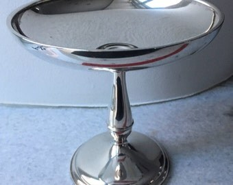 Vintage Wallace Sterling Silver Pedestal Candy Dish - Weighted 4785