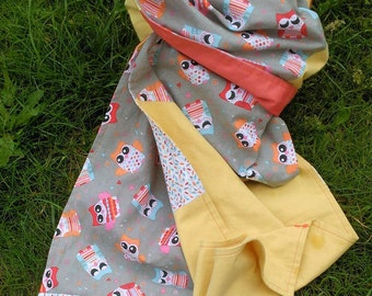 long yellow and orange cotton scarf
