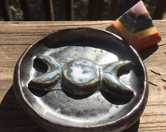 New Moon Triple Goddess Pixie Dish