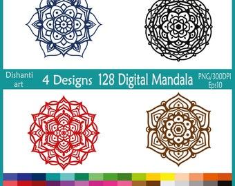 Mandala Clipart PNG, EPS