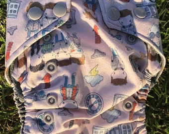 Back to the future one size pocket cloth diaper