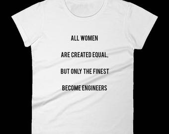 Awesome T-shirt for Women Engineers - Woman Engineer Gift - Girl Engineers - Woman Engineer Shirt - Engineering Gift