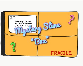 Mystery Slime Box, Discounted Slimes, Save BIG on Quality Slimes, Mystery Slime Package, Huge Slime Box, Fun Surprise, 4-8 ounce slimes.