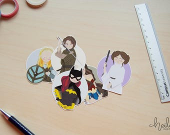 5 Warrior women Stickers!