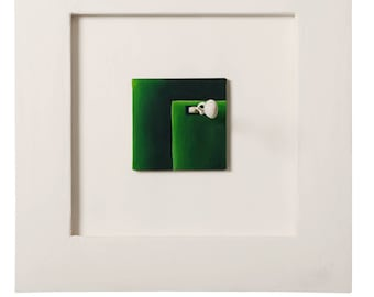 Ground II by Cesar Vazquez | 3D painting | Wooden Sculpture Protruding on Painting | Literature | Symbolism | Tolstoy