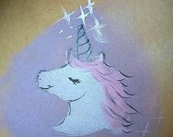 Unicorn Head Stencil