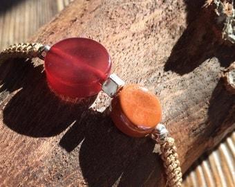 Bracelet macramé and money(silver)