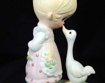 Precious Moments Jonathan & David Enesco Figurine E-1374/G MAKE A JOYFUL NOISE Original 21 Retired No Mark No Box