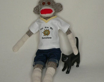 Sunshine Sock Monkey - Just The Right Expression of Love For That Special Somone in Your Life