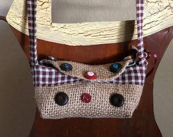 Small Re-purposed Coffee Bag Eye-Glass Holder, Children's Purse