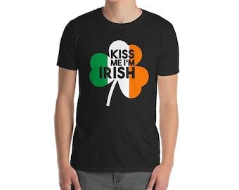 St Patricks Day T shirt, Irish shirt, Ireland shirt, Shamrock shirt, Irish Sarcasm, Lucky Irish, Irish flag, KISS me I'm IRISH