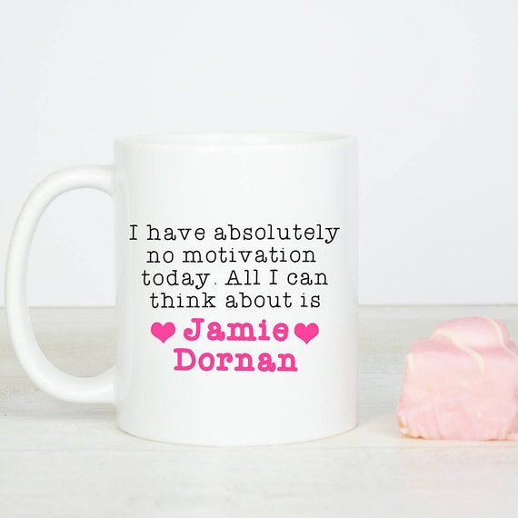 Jamie Dornan mug, funny all i can think about is Jamie Dornan gift mug, because he is cute